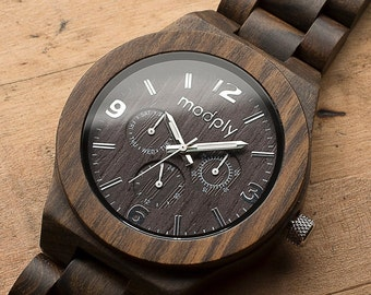 Wood Watch, Engraved Watch, Men Watch, Personalized Watch, 5th Anniversary Gift For Him, Custom Watch, Dad Watch, Graduation Gift, Wrist