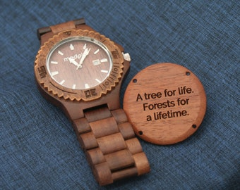 Men Wood Watch, Eco Friendly Gift, Personalized Watch, Gift For Dad, Christmas Gift Tree, Engraved Watch, Wrist Watch, Monogram Watch