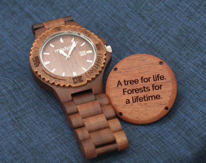 Graduation Gift For Him, Men Wood Watch, Personalized Watch, Gift For Dad, College Gift, Engraved Watch, Wrist Watch, Monogram Watch,Brother