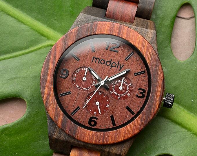 Personalized Watch For Men, Engraved Wood Watch, Custom Watch, Men Gift, Analog Watch, Waterproof Watch, Wood Jewelry For Men, Anniversary