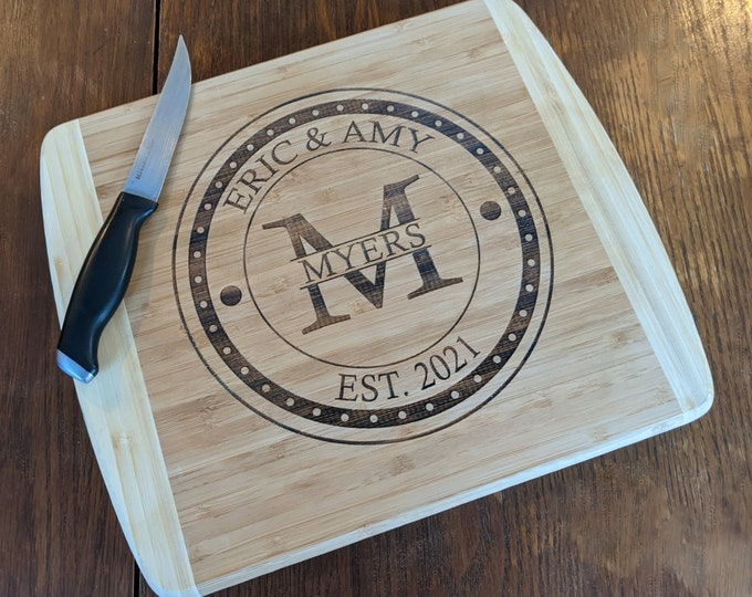 Mothers Day Gift Cutting Board, Initials Cutting Board, Mom Cutting Board, Personalized Mother Cutting Board Wood, Bamboo Cutting Board