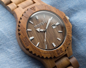 8 Groomsmen Gift Set Wood Watches -FREE PRIORITY SHIPPING.  Make a great Best Man Gift, Father of the Bride Gift or Wedding Officiant Gift