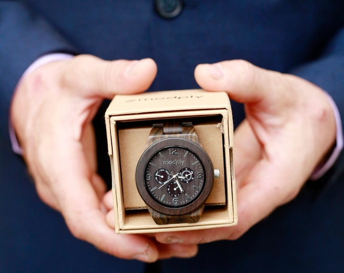Wood Watch, Engraved Watch, Custom Watch, Personalized Watch, Gift For Men, Monogram Watch, Boyfriend Gift, Unique Watch, Fathers Day Gift