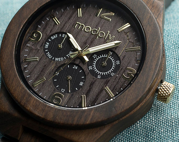 Wooden Watch For Men, Engraved Watch, Personalized Men Gift, Custom Watch,  Thanksgiving Gift For Men, Monogram Watch, 5th Anniversary Gift