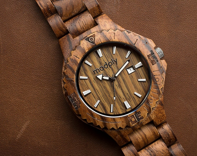 Wooden Watch, Men Watch, Engraved Watch, Personalized Watch, Wrist Watch, Analog Watch, Custom Watch, Personalized Men Gift, Husband Watch
