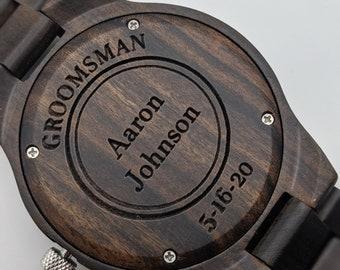 Groomsmen Watches Set Of 4, Groomsmen Gift, Wedding Watches Set, Best Man Watch, Father Of The Groom Gift, Wood Men Watches, Retro Watch