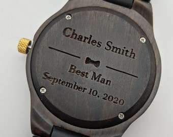 Groomsmen Gift, Best Man Watch, Personalized Watch, Father Of The Bride Gift, Groom Watch Gift Set, Groom To Bride Gift, Custom Watch Set
