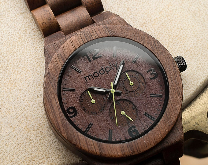 Engraved Wood Watch Men Personalized Wood Watch Custom Watch Wood Modern Watch Perfect As A Birthday Gift For Him Wrist Watch Analog