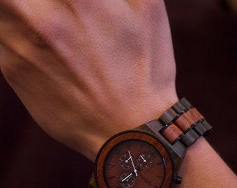 Custom Christmas Watch,  Men Wood Watch, Custom Watch, Personalized Watch, Engraved Watch, Analog Watch, Retirement Gift, Battery Watch
