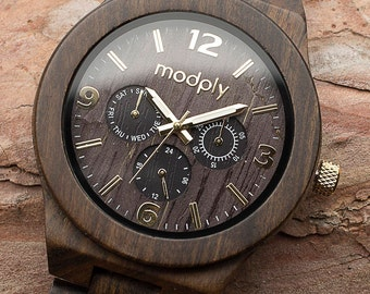 Wooden Watch For Men, Engraved Watch, Personalized Men Gift, Custom Watch, Anniversary Gift, Dad Watch, Monogram Watch, Fathers Day Gift