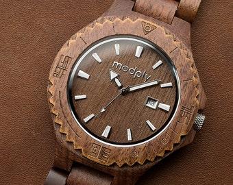 Wood Watch, Engraved Watch, Personalized Gift For Men, Retirement Gift, Battery Watch, Teacher Gift, Custom Watch, Groomsmen Watch, Modply