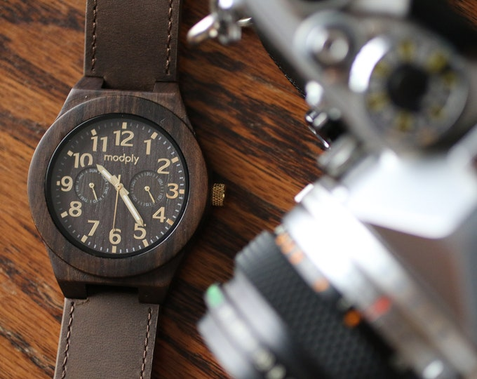 Wood Watch Men, Personalized Men Gift, Custom Watch, Mens Wooden Watch, Retro Watch, Christmas Gift, Retirement Gift, Wrist Watch, Dad Gift
