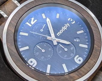 Men Watch, Engraved Watch, Personalized Gift, Monogram Watch, Custom Watch, Wood Watch, Retirement Gift, Battery Watch, Groom Watch