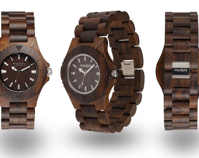 Engraved Watch For Men, Wood Watch Men, Groomsmen Gift, Small Watch, Anniversary Gift, Wrist Watch, Analog Watch, Personalized Watch