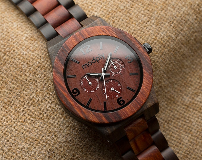 Personalized Gift For Men, Wood Watch Men, Engraved Watch, Men Gift, Custom Watch, Back To School Gift, Brown Watch, Personal,Wedding Gift
