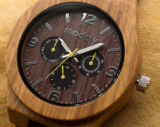 Wood Watch Engraved, Personalized Watch Gift, Father Of The  Groom Watch, Men Wood  Watch, 5th Wedding Anniversary Gift, Best Man Watch