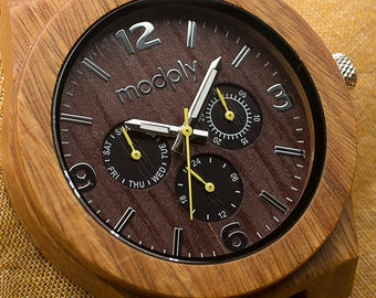 Wood Watch For Men, Engraved Wood Watch, Personalized Watch, Custom Watch, Wrist Watch, Initials Watch, Gift For Dad, Father Of The  Groom