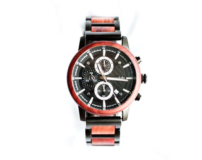 Black Metal Handmade Watch For Men Perfect For Wedding  Groom Gift or Anniversary Gift For Husband