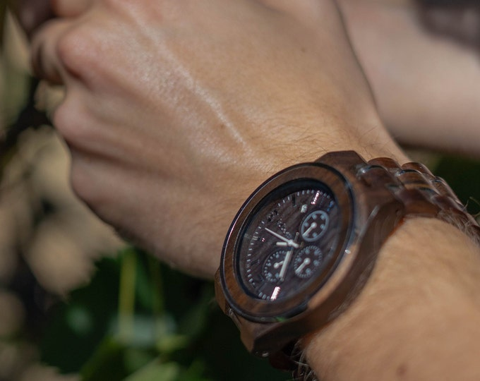 Groomsmen Proposal, Wood Watch, Initials Watch, Groom Watch, Best Man Watch, Retirement Gift, Battery Watch, Husband Gift, Unique Watch