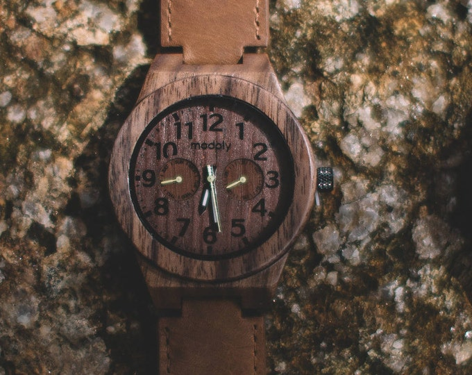 Men Personalized Watch, Wood Watch, Gift For Men, Engraved Wood Watch, Wrist Watch, Jewelry Watch, Analog Watch, Graduation Watch, Monogram