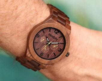 Groomsmen gift, Wood watch Engraved, Mens wooden watch, mens watches, 5th Anniversary Gift, wood watches for man, man wood watch