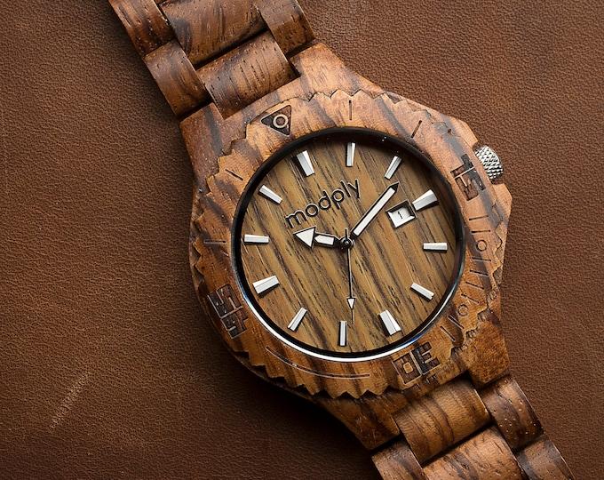 Wooden Watch, Men Watch, Engraved Watch, Personalized Watch, Wrist Watch, Analog Watch, Custom Watch, Personalized Men Gift, Husband Watch