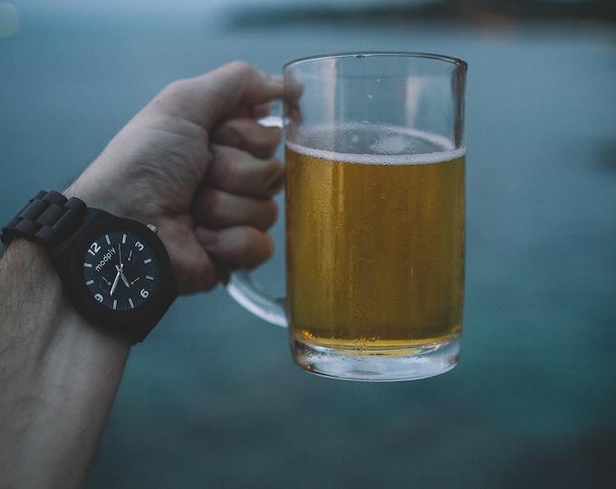 Engraved Wood Watch, Personalized Men Gift, Monogram Watch, Graduation Watch, Custom Watch, Battery Watch, Retirement Gift, Unique Wood Gift