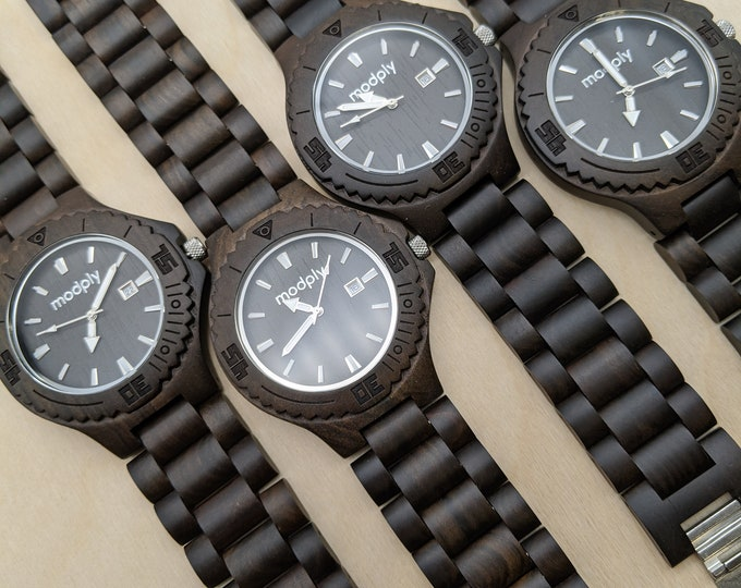 4 Watch Groomsmen Gift, Wood Watches Set, Groomsmen Gift, Monogram Watches, Father Of The Groom Gift, Wedding Watches, Personalized Watches