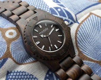 Men Wood Watch Personalized Gift Custom Unique Watch Designer Analog Watch Perfect For Birthday Gift Monogram Watch Made From Wood