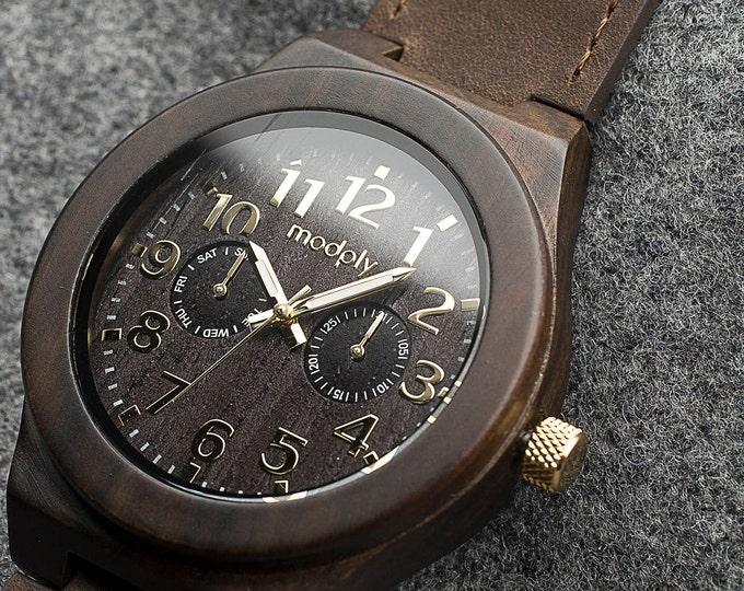 Men Personalized Watch, Wood Watch Custom, Engraved Wood Watch, Teacher Gift, Wrist Watch, Personalized Gift, Analog Watch, 5th Anniversary