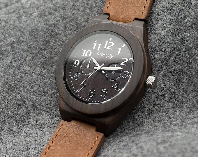 Custom Engraved Watch, Men Wood Watch, Men Accessory, Husband Gift, Personalized Watch, 5th Anniversary Gift, Unique Watch, Wrist Watch