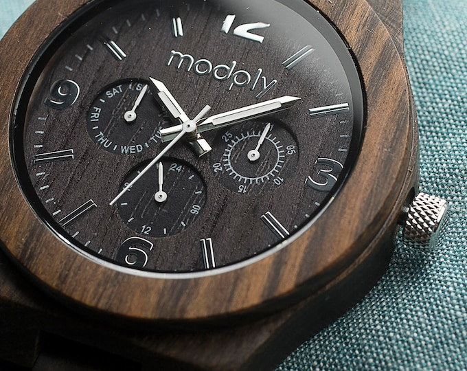 Wooden Custom Watch, Wood Watch For Dad, Men Accessory, Back To School Gift, Engraved Watch, Personalized Father Watch,Designer Custom Watch