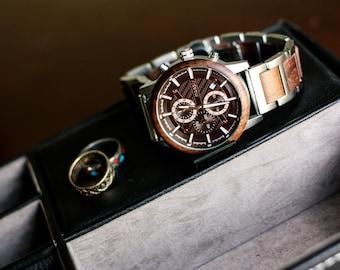 Metal Watch, Men Watch, Wrist Watch, Anniversary Gift For Him, Wood Watch, Silver Watch, Gift For Men, Handmade Watch, Business Accessory