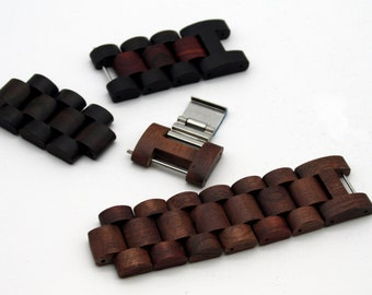 Men's Modply Replacement Wood Band Link, Wood Watch Band, Men Watch Strap, Wood Watch Accessories, Men Gift, Birthday Gift For Him, Modply