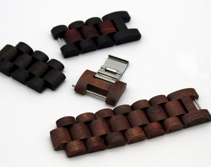 Men's Wood Watch Band, Modply Replacement Wood Band Link, Men Watch Strap, Wood Watch Accessories, Men Gift, Birthday Gift For Him, Modply
