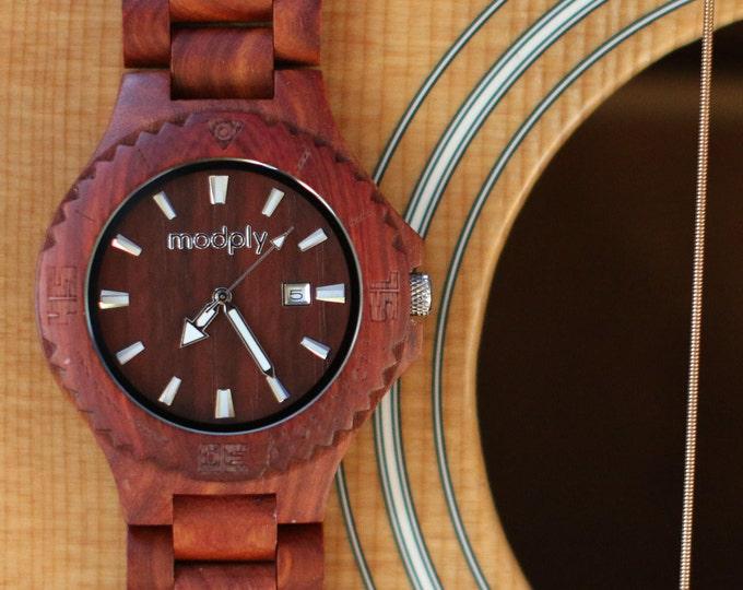 Wooden Watch, Men Watch, Husband Gift, Wedding Gift Watch, Engraved Watch, Personalized Watch, Woodie Specs, 5th Wedding Anniversary Gift