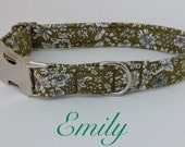 Handmade Liberty Fabric Dog Collar With Welded Nickel D Ring