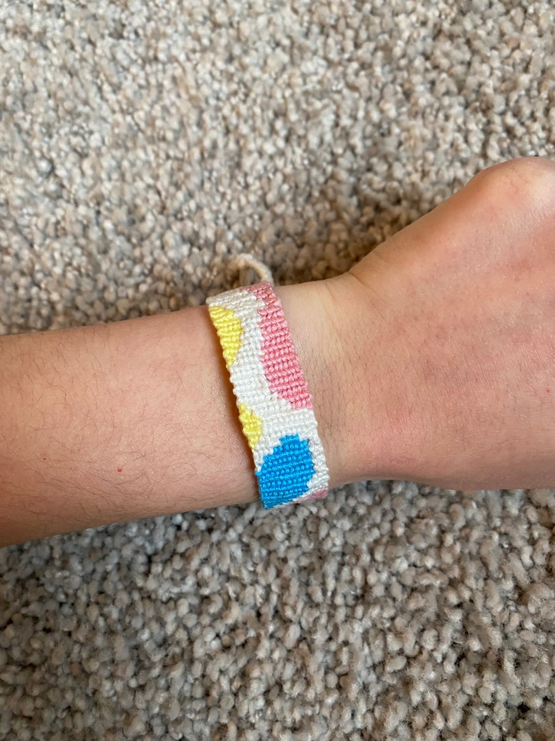 Knotted Bracelets Colorful Bubble Handmade Alpha Friendship Bracelet Cotton Bracelets Woven Bracelet Trendy