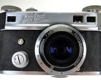 Wollensak Perfex Velostigmat 50mm f2.8 M38 rangefinder camera USA