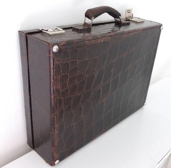 Vintage Travel Vintage Luggage Decor Bag 1960/'s70s Mid Century Suitcase leather suitcase Retro Home Decor