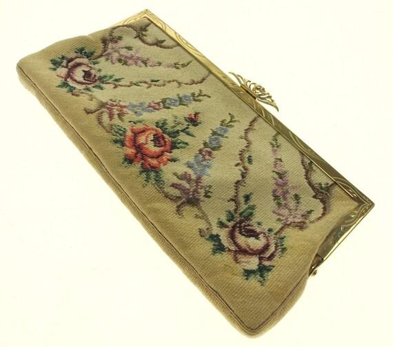 Bag Tapestry Wallet Tapestry Make-up Bag Embroide… - image 2