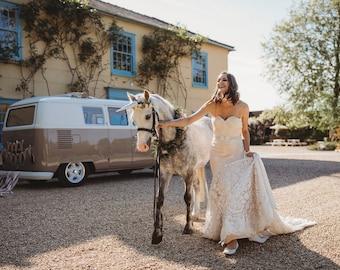 Inbal Dror 15-16 inspired Wedding dress sample dress on sale uk size 10-12