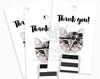 printable thank you tags customer gift tags printable tags etsy
