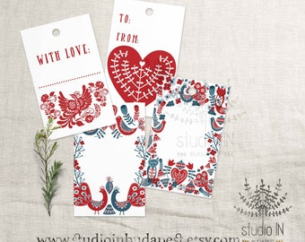 gift tag flower gift tags printable tags wedding gift tag etsy
