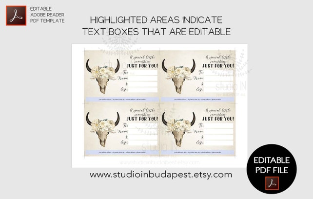 Gift Card Template Editable Gift Certificate Shop Coupon Card