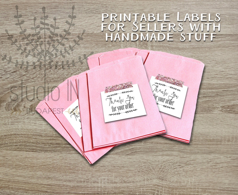 Printable thank you tags customer gift tags printable tags | Etsy
