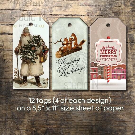 Christmas Gift Tag DIY Christmas Tags Printable Tags Gift Etsy