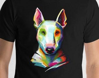 English Bull Terrier Colorful Portrait T-Shirt