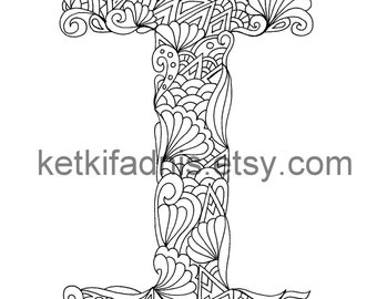 Letter Coloring Page Etsy