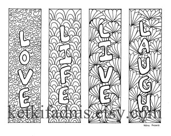 Coloring Bookmarks Halloween coloring bookmarks PDF | Etsy